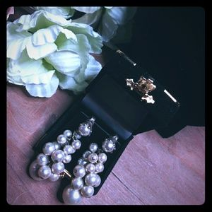 Vintage Pearl Cluster Fashion Earrings
